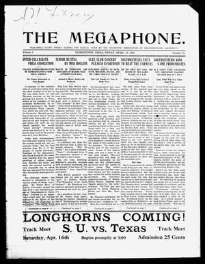 Primary view of object titled 'The Megaphone (Georgetown, Tex.), Vol. 3, No. 25, Ed. 1 Friday, April 15, 1910'.