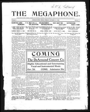 Primary view of object titled 'The Megaphone (Georgetown, Tex.), Vol. 2, No. 4, Ed. 1 Friday, October 23, 1908'.