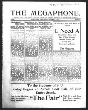 Primary view of object titled 'The Megaphone (Georgetown, Tex.), Vol. 4, No. 10, Ed. 1 Friday, December 2, 1910'.