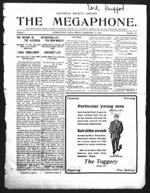 Primary view of object titled 'The Megaphone (Georgetown, Tex.), Vol. 2, No. 17, Ed. 1 Friday, February 12, 1909'.