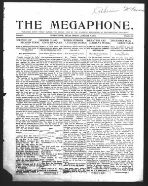 Primary view of object titled 'The Megaphone (Georgetown, Tex.), Vol. 4, No. 14, Ed. 1 Friday, January 6, 1911'.