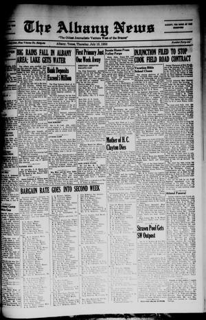 Primary view of object titled 'The Albany News (Albany, Tex.), Vol. 66, No. 41, Ed. 1 Thursday, July 13, 1950'.