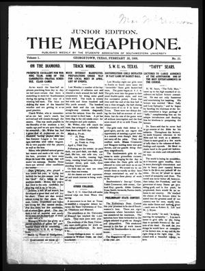 Primary view of object titled 'The Megaphone (Georgetown, Tex.), Vol. 1, No. 21, Ed. 1 Friday, February 28, 1908'.
