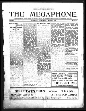 Primary view of object titled 'The Megaphone (Georgetown, Tex.), Vol. 2, No. 20, Ed. 1 Friday, March 5, 1909'.