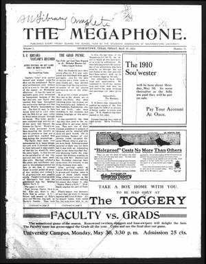 Primary view of object titled 'The Megaphone (Georgetown, Tex.), Vol. 3, No. 31, Ed. 1 Friday, May 27, 1910'.