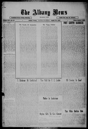 Primary view of object titled 'The Albany News (Albany, Tex.), Vol. 45, No. 46, Ed. 1 Friday, August 23, 1929'.