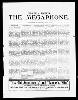 Primary view of object titled 'The Megaphone (Georgetown, Tex.), Vol. 3, No. 14, Ed. 1 Friday, January 21, 1910'.