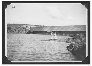 Primary view of object titled '[Women at San Esteban Dam]'.