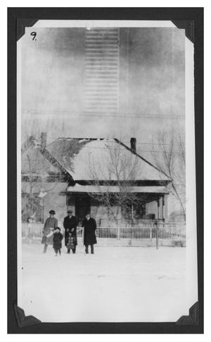 Primary view of object titled '[Photograph of People in the Snow]'.