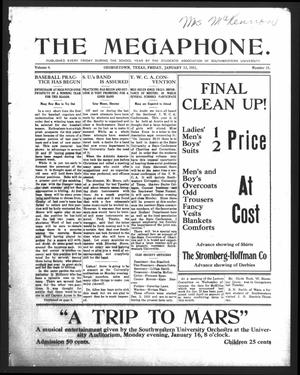 Primary view of object titled 'The Megaphone (Georgetown, Tex.), Vol. 4, No. 15, Ed. 1 Friday, January 13, 1911'.