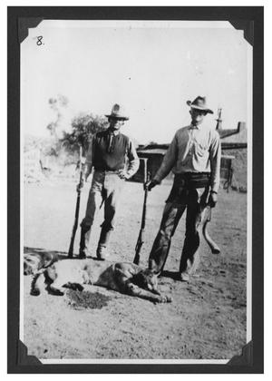 Primary view of object titled '[Photograph of Bogel Boys After a Hunt]'.