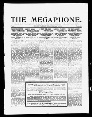 Primary view of object titled 'The Megaphone (Georgetown, Tex.), Vol. 3, No. 16, Ed. 1 Friday, February 4, 1910'.