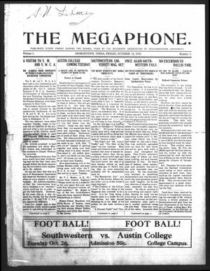 Primary view of object titled 'The Megaphone (Georgetown, Tex.), Vol. 3, No. 3, Ed. 1 Friday, October 22, 1909'.