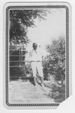 Primary view of object titled '[Photograph of Gus Bogel]'.