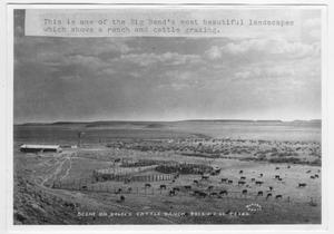 Primary view of object titled '[Photograph of Scene on Bogel's Cattle Ranch, Presidio Co., Texas]'.