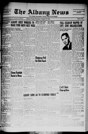 Primary view of object titled 'The Albany News (Albany, Tex.), Vol. 66, No. 2, Ed. 1 Thursday, October 13, 1949'.