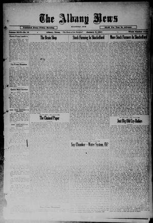 Primary view of object titled 'The Albany News (Albany, Tex.), Vol. 46, No. 13, Ed. 1 Friday, January 2, 1931'.