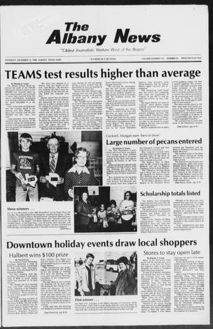Primary view of object titled 'The Albany News (Albany, Tex.), Vol. 110, No. 26, Ed. 1 Thursday, December 12, 1985'.
