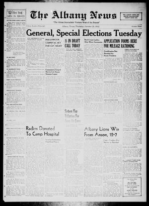 Primary view of object titled 'The Albany News (Albany, Tex.), Vol. 58, No. 3, Ed. 1 Thursday, October 29, 1942'.