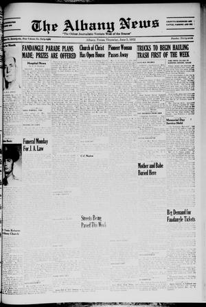 Primary view of object titled 'The Albany News (Albany, Tex.), Vol. 68, No. 37, Ed. 1 Thursday, June 5, 1952'.