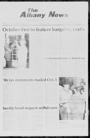 Primary view of object titled 'The Albany News (Albany, Tex.), Vol. 111, No. 16, Ed. 1 Thursday, October 2, 1986'.