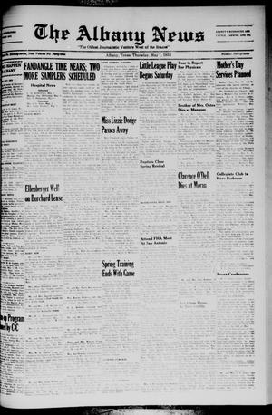Primary view of The Albany News (Albany, Tex.), Vol. 69, No. 33, Ed. 1 Thursday, May 7, 1953