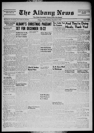 Primary view of object titled 'The Albany News (Albany, Tex.), Vol. 63, No. 8, Ed. 1 Thursday, December 5, 1946'.