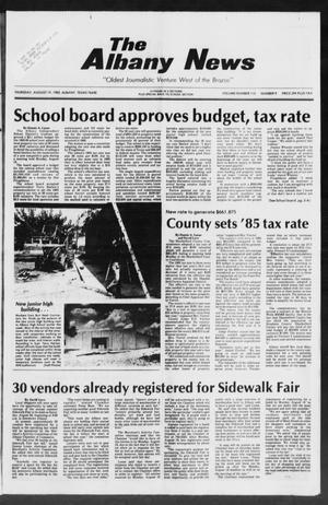 Primary view of object titled 'The Albany News (Albany, Tex.), Vol. 110, No. 9, Ed. 1 Thursday, August 15, 1985'.