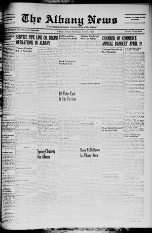 Primary view of object titled 'The Albany News (Albany, Tex.), Vol. 67, No. 27, Ed. 1 Thursday, April 5, 1951'.