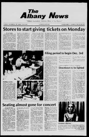 Primary view of object titled 'The Albany News (Albany, Tex.), Vol. 112, No. 24, Ed. 1 Thursday, November 26, 1987'.