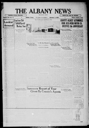 Primary view of The Albany News (Albany, Tex.), Vol. 52, No. 14, Ed. 1 Thursday, January 7, 1937