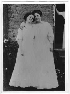 Primary view of object titled '[Picture of a mother and daughter]'.