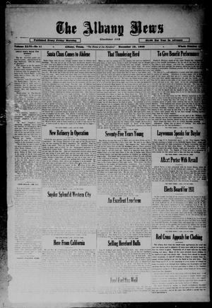 Primary view of object titled 'The Albany News (Albany, Tex.), Vol. 46, No. 11, Ed. 1 Friday, December 19, 1930'.