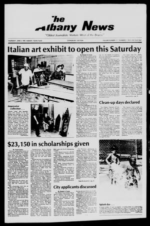 Primary view of object titled 'The Albany News (Albany, Tex.), Vol. 111, No. 51, Ed. 1 Thursday, June 4, 1987'.