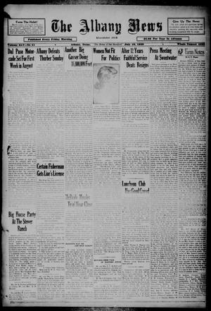 Primary view of object titled 'The Albany News (Albany, Tex.), Vol. 45, No. 41, Ed. 1 Friday, July 19, 1929'.