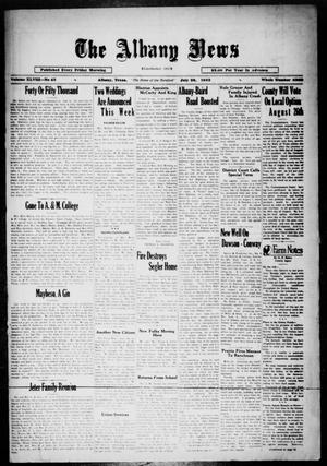 Primary view of object titled 'The Albany News (Albany, Tex.), Vol. 48, No. 43, Ed. 1 Friday, July 28, 1933'.