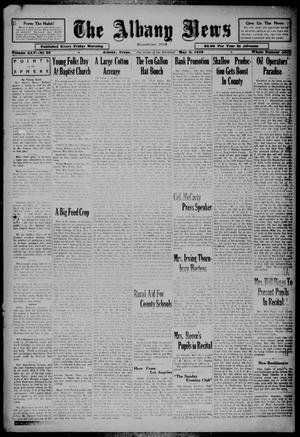 Primary view of object titled 'The Albany News (Albany, Tex.), Vol. 45, No. 30, Ed. 1 Friday, May 3, 1929'.