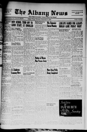Primary view of object titled 'The Albany News (Albany, Tex.), Vol. 65, No. 49, Ed. 1 Thursday, September 8, 1949'.