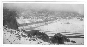 Primary view of object titled '[Fort Davis in the Snow]'.