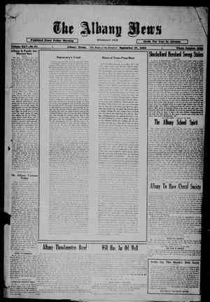 Primary view of object titled 'The Albany News (Albany, Tex.), Vol. 45, No. 51, Ed. 1 Friday, September 27, 1929'.