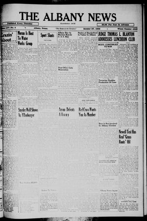 Primary view of The Albany News (Albany, Tex.), Vol. 54, No. 4, Ed. 1 Thursday, October 27, 1938