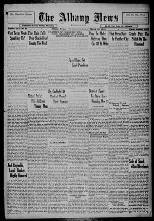 Primary view of object titled 'The Albany News (Albany, Tex.), Vol. 45, No. 23, Ed. 1 Friday, March 15, 1929'.