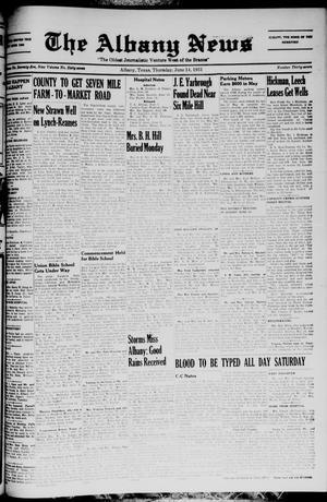 Primary view of object titled 'The Albany News (Albany, Tex.), Vol. 67, No. 37, Ed. 1 Thursday, June 14, 1951'.