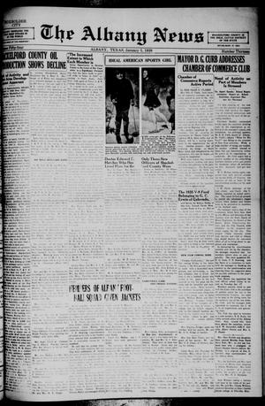 Primary view of object titled 'The Albany News (Albany, Tex.), Vol. 54, No. 13, Ed. 1 Thursday, January 5, 1939'.