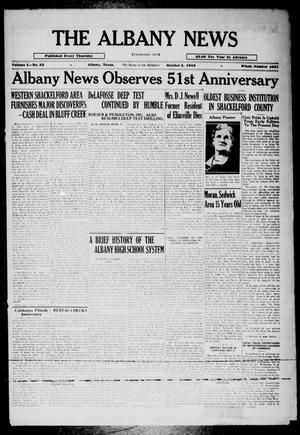 Primary view of object titled 'The Albany News (Albany, Tex.), Vol. 50, No. 52, Ed. 1 Thursday, October 3, 1935'.