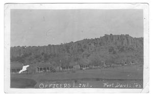 Primary view of object titled 'Officer's Line, Fort Davis, Texas'.
