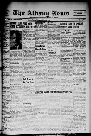 Primary view of The Albany News (Albany, Tex.), Vol. 66, No. 23, Ed. 1 Thursday, March 9, 1950
