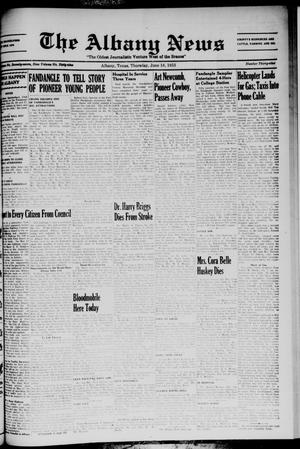 Primary view of object titled 'The Albany News (Albany, Tex.), Vol. 69, No. 39, Ed. 1 Thursday, June 18, 1953'.