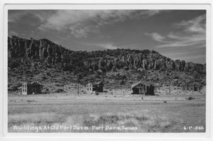 Primary view of object titled 'Buildings At Old Fort Davis - Fort Davis, Texas'.