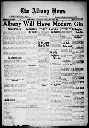 Primary view of object titled 'The Albany News (Albany, Tex.), Vol. 48, No. 45, Ed. 1 Friday, August 11, 1933'.